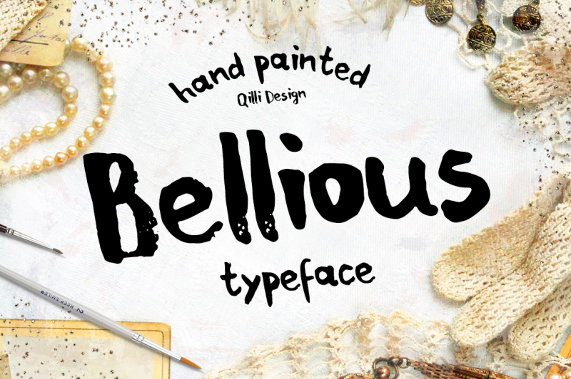 bellious-hand-drawn-typeface