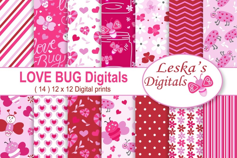 valentine-love-bug-digital-paper