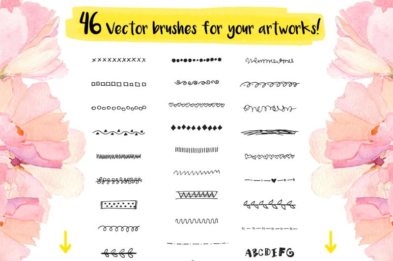 46-vector-hand-drawn-brushes-set