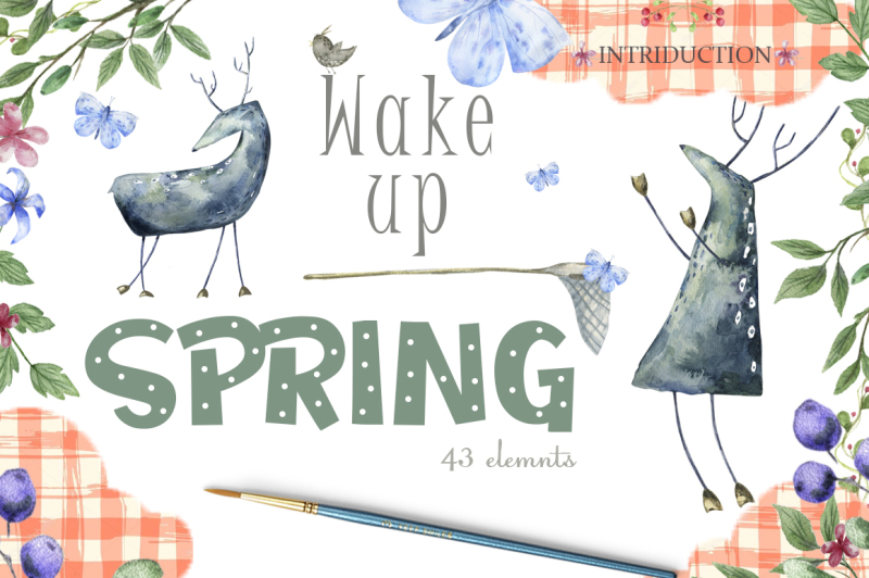 wake-up-spring-watercolor-deer