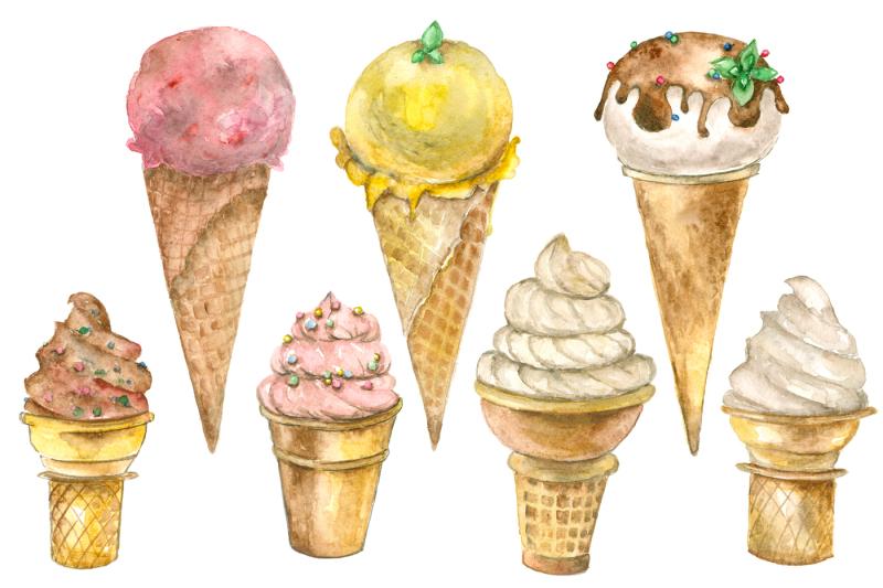 ice-cream-watercolor