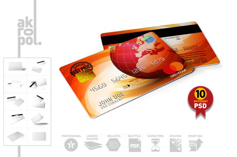 Free Credit Cards Mockup (PSD Mockups)