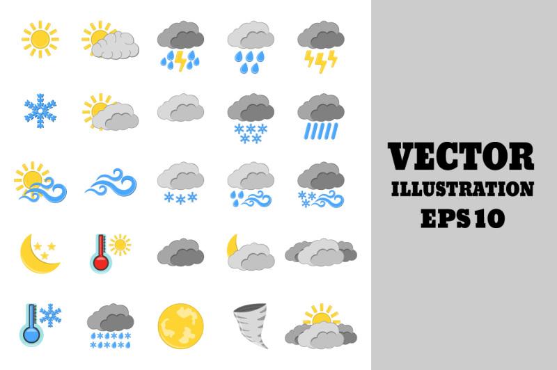 set-of-25-weather-icon