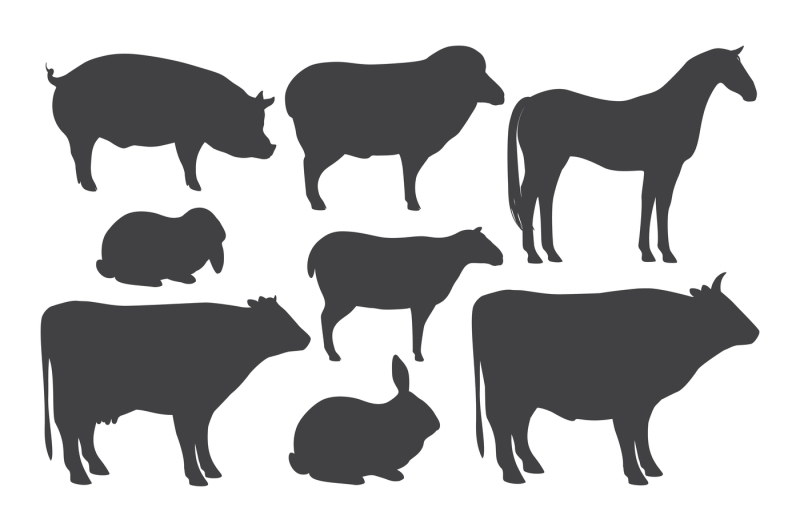 farm-animal-silhouettes