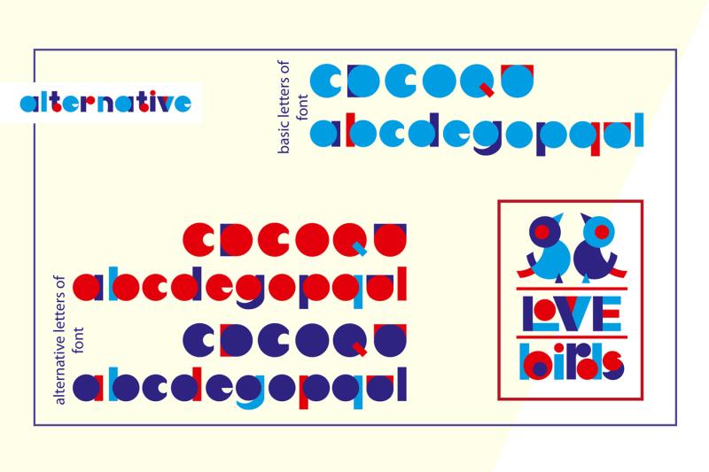 love-birds-multicolor-font