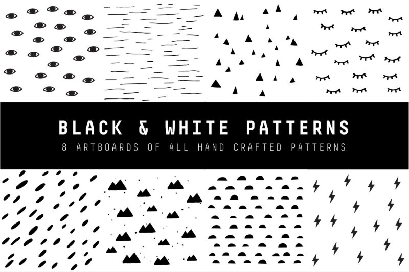 black-and-white-patterns