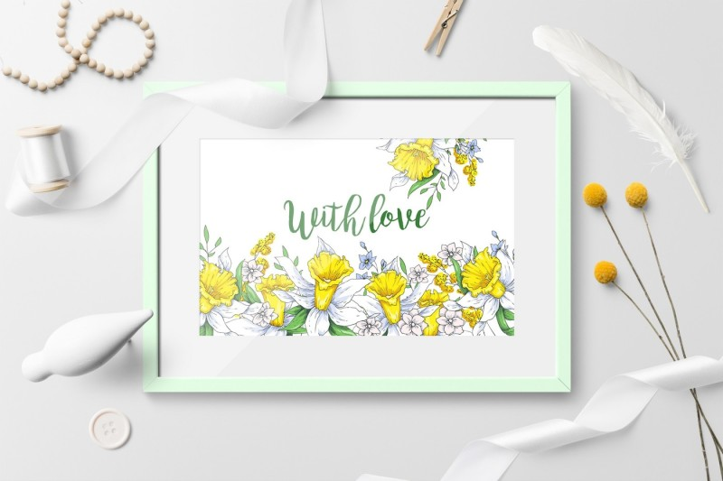 Sunny Flowers – spring clip art By Yuliya Art ...