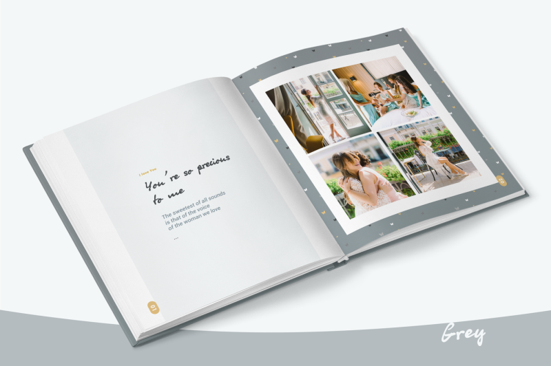 grey-photo-album-template