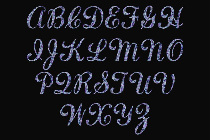 uppercase-blue-and-purple-glitter-alphabet