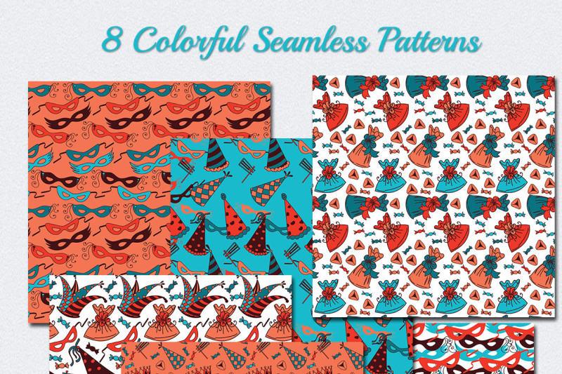 happy-purim-8-colorful-patterns