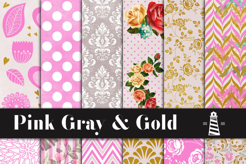 pink-gray-and-gold-digital-paper