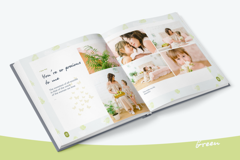 green-photo-album-template