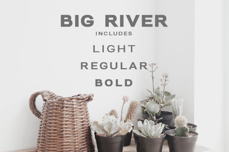 big-river-a-font-duo