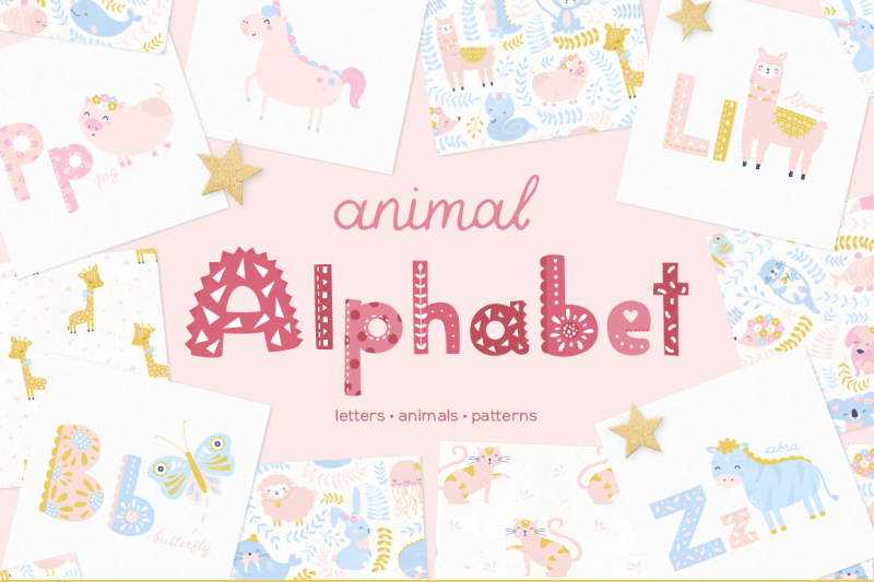 animal-alphabet-and-cute-baby-patterns