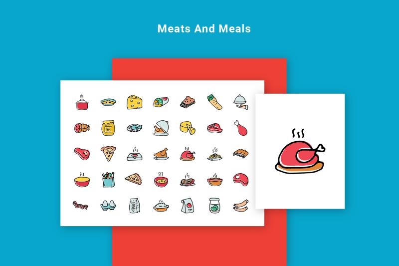 foodie-food-hand-drawn-icons