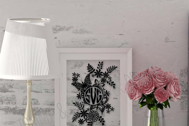 monogram-flowers-and-butterflies-svg-dxf-png-pdf-jpg