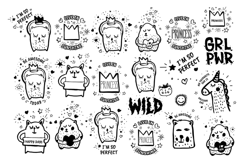 106-vector-doodles-seamless-patterns-free