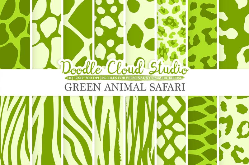 green-animal-safari-digital-paper-fur-patterns