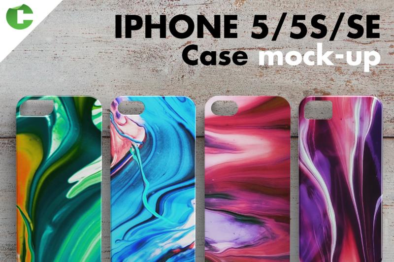 Free iPhone 5/5S/SE case mock-up (PSD Mockups)