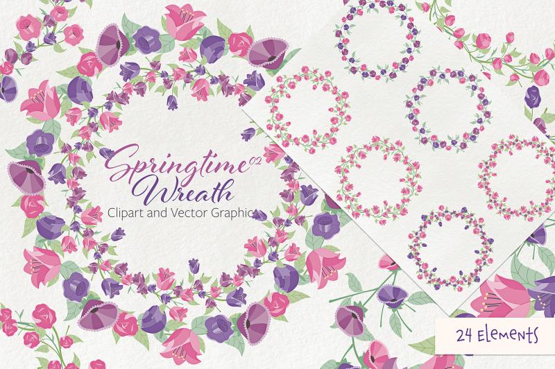 springtime-02-wreath-flower-clipart-and-vectors
