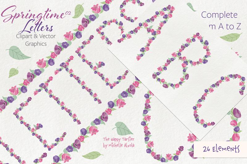springtime-02-letters-clipart-and-vectors