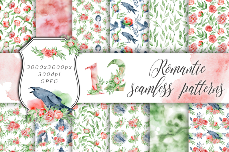 romantic-digital-paper-seamless-patterns-clipart