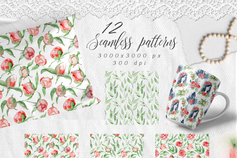 romantic-digital-paper-seamless-patterns-clipart