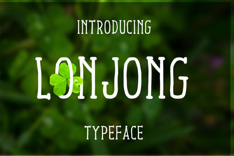 lonjong-font