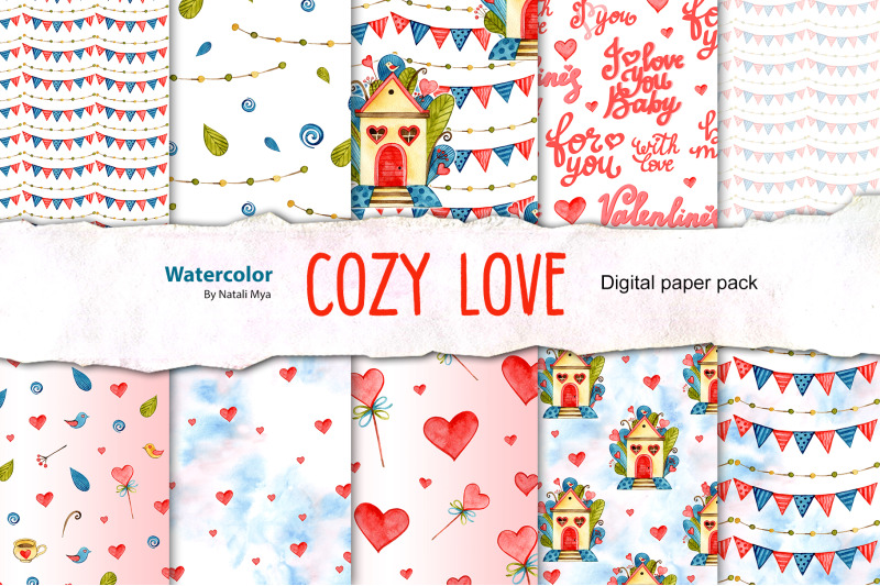 watercolor-love-seamless-patterns
