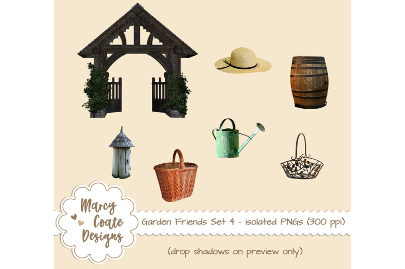 garden-friends-set-4-gardening-objects-isolated-pngs