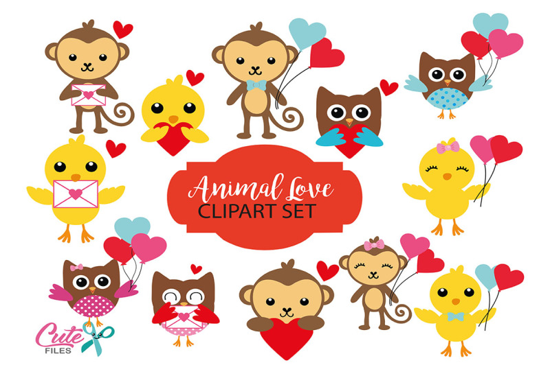 animal-love-clipart-clip-art-set-of-animals-with-hearts-love-letters