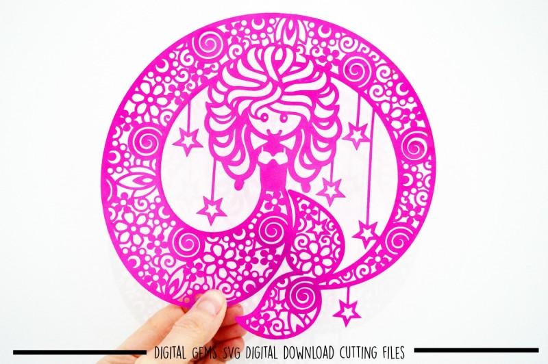 mermaid-paper-cut-svg-dxf-eps-files