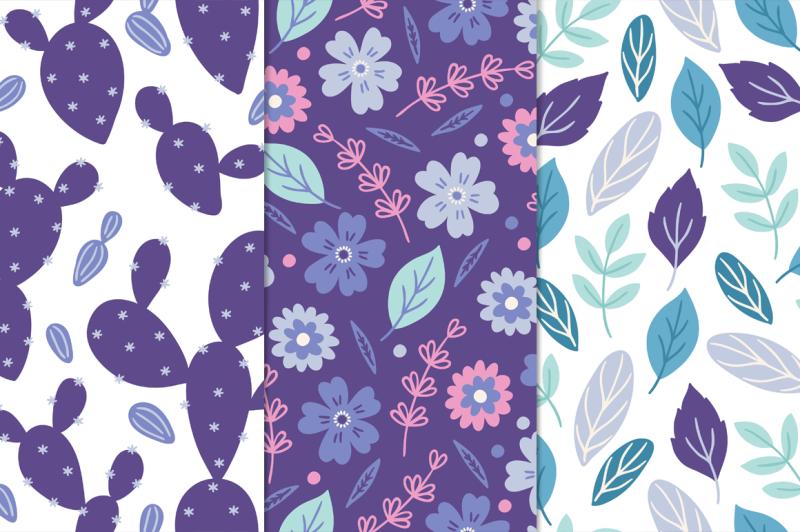 12-ultra-violet-seamless-patterns