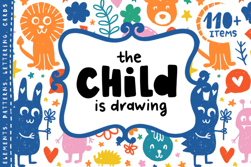 the-child-is-drawing-kids-clipart