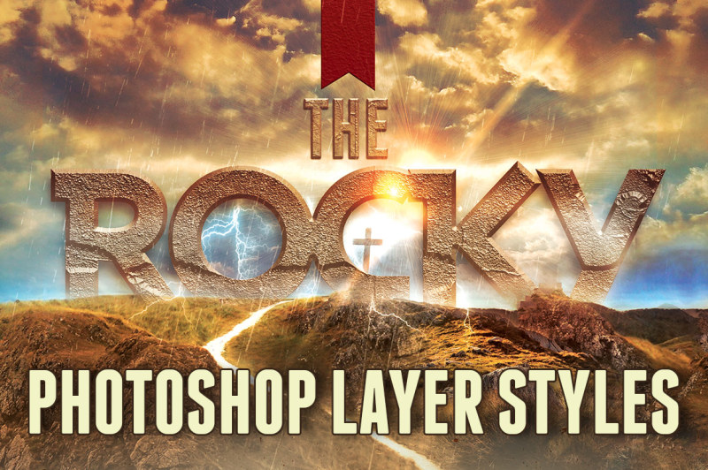 rock-photoshop-layer-styles
