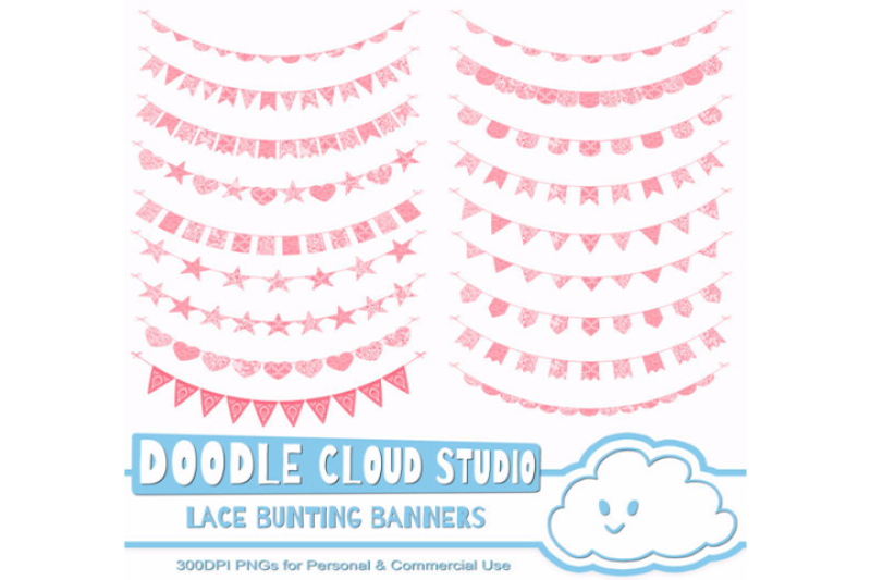 coral-lace-burlap-bunting-banners-cliparts-multiple-peach-texture-flag