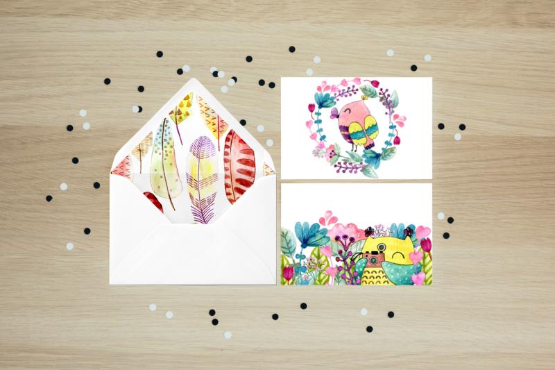 watercolor-owls-kit