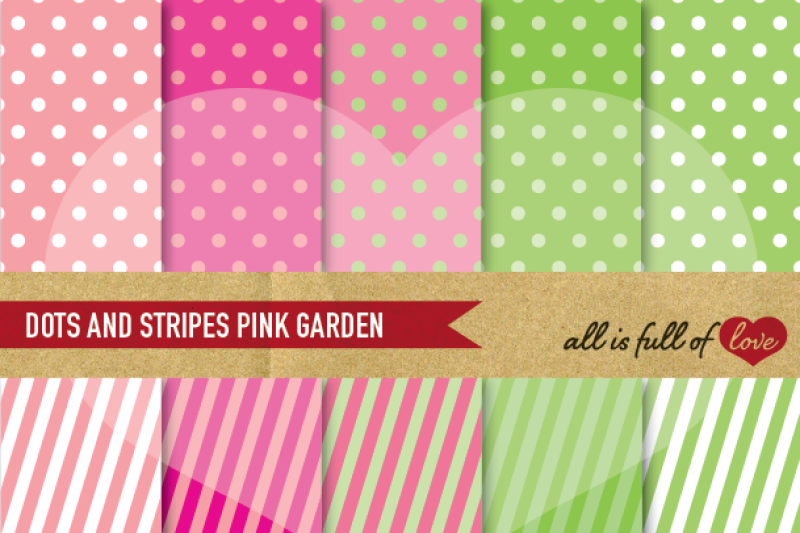 dots-and-stripes-digital-background-patterns-in-pink-and-green