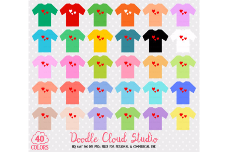 40-colorful-t-shirt-clipart-cute-shirts-planner-stickers-graphics