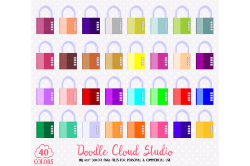 0-colorful-padlock-clipart-cute-rainbow-locks-illustration-stickers