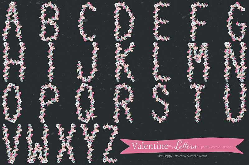 valentine-flora-06-letters-clipart-and-vectors