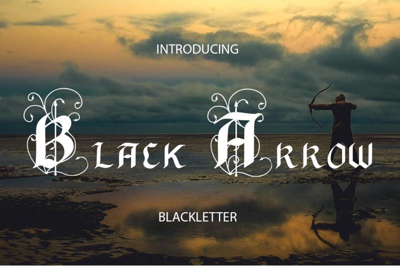 black-arrow-blackletter-font