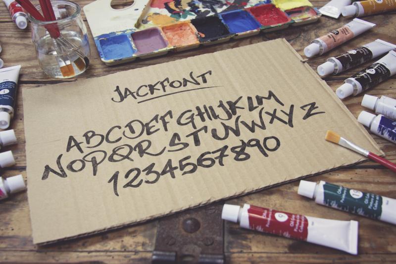 jackfont-script-typeface