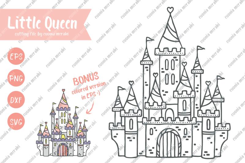 little-queen-cutting-files-princess-castle-fairytale