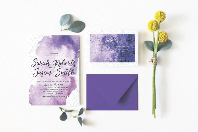 ultra-violet-wedding-suit-invitation