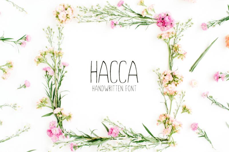 hacca-handwitten-sans-serif-font