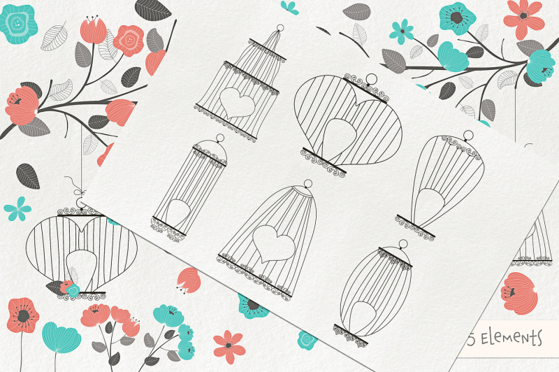 romantic-bird-cages-clipart-and-vectors