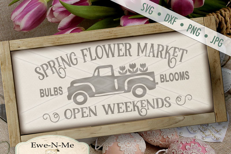 spring-flower-market-old-truck-svg