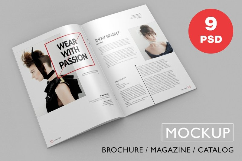 Free Brochure / Magazine PSD Mock-Ups (PSD Mockups)