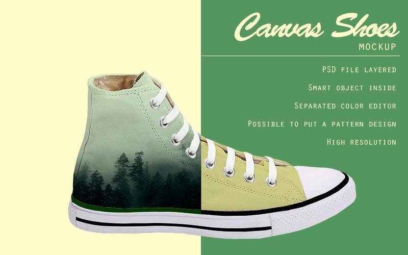 Free Canvas shoes mockup (PSD Mockups)